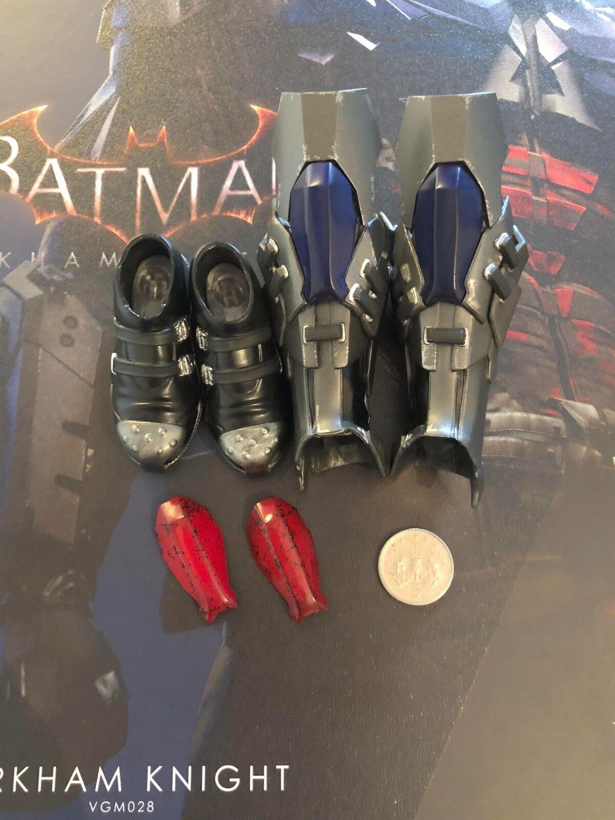 Heißes spielzeug batman arkham ritter stiefel & bein rüstung vgm28 locker 1   6 - skala