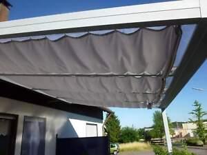 Terrassendach Alu 16 mm Stegplatten + Sonnensegel Terrassenüberdachung 5 m breit