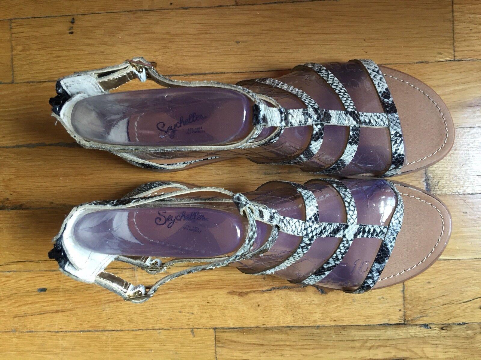 Seychelles Damenschuhe Gladiator Sandales Snakeskin. Größe Box. 10. New In Box. Größe ea4938