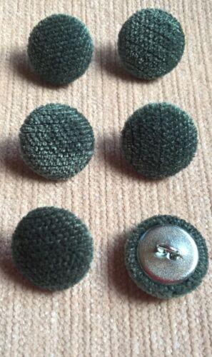 Chenille Terciopelo 30L//19mm océano verde botones de tapicería cubierto de tela