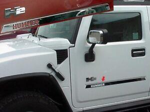 4PC-Stainless-Steel-Body-Molding-Insert-Trim-Kit-HV43025-HUMMER-H2-2003-2009