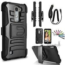 for LG K7 Tribute 5 Hybrid Rugged Holster Case Cover Stand Belt Clip Gift