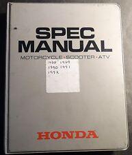 1988-1992 HONDA DEALER MOTORCYCLE, SCOOTER, & ATV SPEC MANUAL (627)