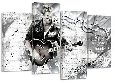 John lennon//okay quote//set of 4 canvas split  prints on wooden bars