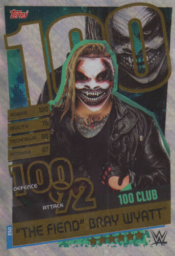 "100 club-Slam Attax Kaiba 2020 Carte 350 /""The Fiend/"" Bray Wyatt"