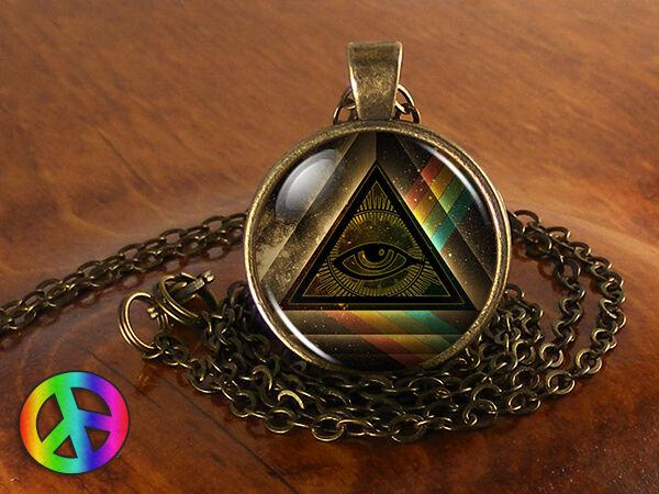 Masonic Free Mason Freemason Illuminati Mens Men Necklace Pendant Jewelry Gift 3