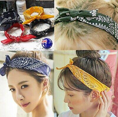 New Lady Women Boho Bohemian Party Cross cotton floral Hair head band Bandana VV