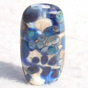 TETON-Handmade-Art-Glass-Focal-Bead-Flaming-Fools-Lampwork-Art-Glass-SRA