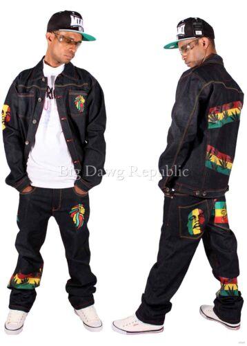Money Talks Mens Ragazzi rasta ONE LOVE HIP HOP DENIM Giacca Jeans /& Set è il tempo