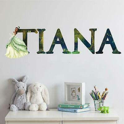 The Princess And The Frog Vinyl Lettering Stickers Wall Decals Name Art MAR353