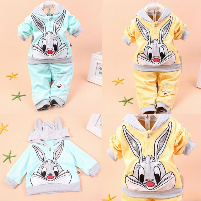 2PCS Baby Girls Kids Hoodie Outwear Pants Suit Outfit Clothes Jacket Party Suit