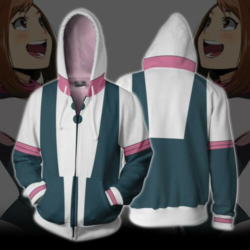 My Boku no Hero Academia Izuku Shoto Bakugo Hoodie Zip Cosplay Coat Sweatshirt