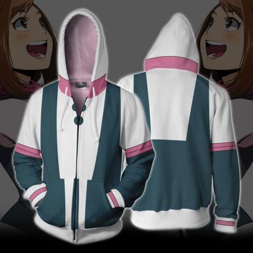 My Boku no Hero Academia Izuku Shoto Bakugo Hoodie Zip Coat Sweatshirt Cosplay