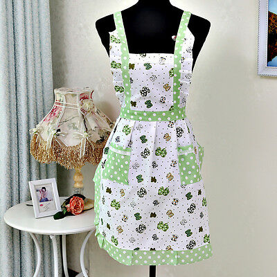 Women Lady Restaurant Home Kitchen For Pocket Cooking Cotton Apron Bib Hottest