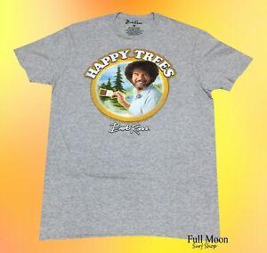 New-Bob-Ross-Mens-Happy-Trees-Rustic-Classic-Vintage-T-Shirt