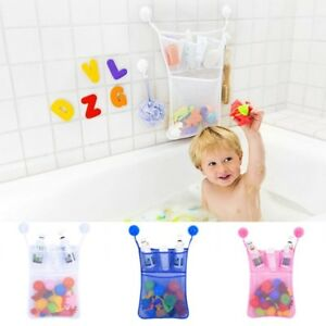 Kids Baby Bath Toy Hanging Sucker Storage Bag Organizer Child Net Suctions Tubs Strong Packing Bathing & Grooming Bathing Accessories