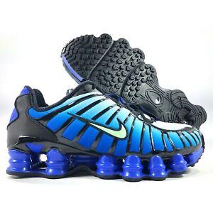 Nike-Sportswear-Shox-TL-Black-Vapor-Green-Racer-Blue-AV3595-009-Men-039-s-8-5