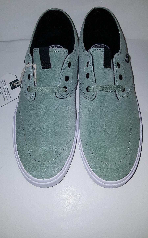 STATE FOOTWEAR; BISHOP FTWST10805 MEN'S SKATE Schuhe;MINT/Weiß SUEDE; FTWST10805 BISHOP 461d0f