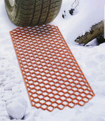 TRACTION MATS MUD SNOW CAR VAN CAMPER ANTI SLIP GRABBER MAT HEAVY DUTY PACK OF 2