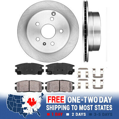 Rear Drill Slot Brake Rotors For 2010 2011 2012 2013 Chevy Terrain GMC Equinox