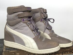 modern and elegant in fashion diversified in packaging 2019 professional Details about Puma Sky Hi CONTACT Wedge Fashion Sneakers Trainer Women's  9.5 Grey Violet Shoes