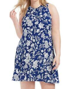 Karen-Kane-Sleeveless-Jersey-Floral-Tank-Shift-Dress-Size-XL