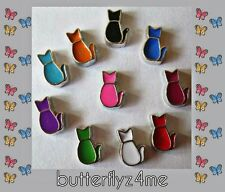 ** CAT** Floating Charm (YOU CHOOSE COLOR) For Living Memory Lockets~New & Cute!