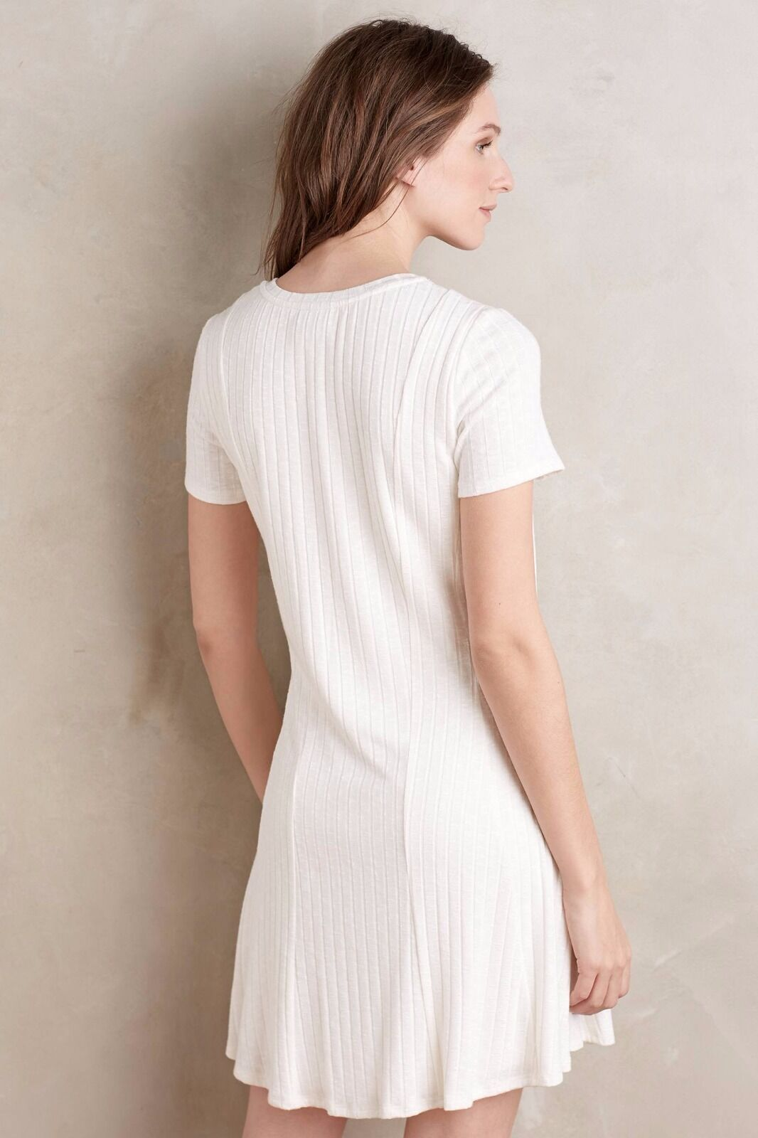 NWT SZ M RIBBED FLARE DRESS BY DOLAN DOLAN DOLAN LEFT COAST WHITE 8cfdaa