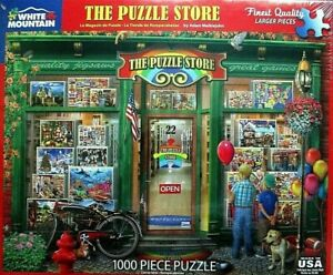 WHITE-MOUNTAIN-Puzzle-034-The-Puzzle-Store-034-1000-Piece-Jigsaw-Puzzle