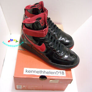 Details about 2002 NIKE AIR FORCE 1 HIGH ROSE BLACK VARSITY RED MENS SIZE  9.5