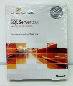 Microsoft SQL Server 2005 Workgroup Edition - 5 Clients, Deutsch, SKU: A5K-00992
