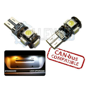 ASTRA-H-VXR-MK5-05-10-CANBUS-501-LED-NUMBER-PLATE-5-SMD-BULBS-T10-W5W-WHITE