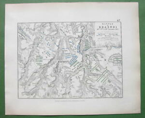 1848-Fine-Quality-Map-RUSSIA-Krasnoy-amp-Environs-Napoleon-Battle-of-1812