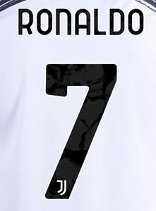 2020 21 Juventus Fc 7 Ronaldo Home Soccer Jersey Name Set Ebay
