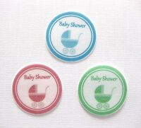PRE CUT 12 EDIBLE RICE PAPER WAFER CARD BABY SHOWER CAKE CUPCAKE TOPPERS