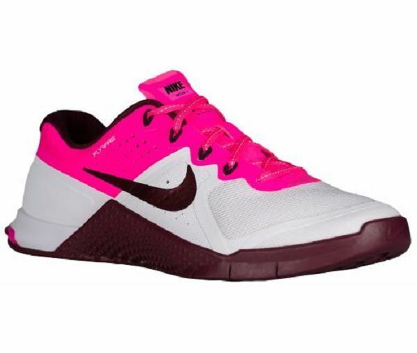 Nike Metcon 2 Women's White/ Maroon/Pink Blast/Black  821913 106 Sz 6.5 and 11