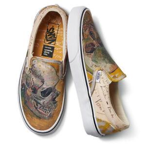 c9b04f57a9 Vans x Vincent Van Gogh Museum Classic Slip-On Skull Sneakers ...
