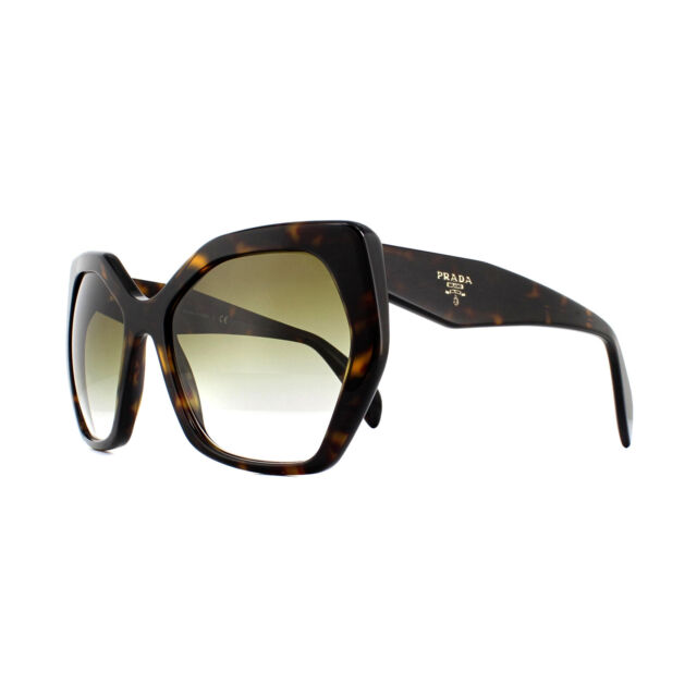 9b9c318479 Original PRADA PR 16rs 2au-4m0 Havana Frame Brown Shaded Lens ...
