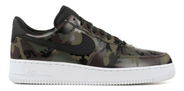 SALE NIKE AIR FORCE 1 LOW LV8 MEDIUM OLIVE CAMO 823511 201 REFLECTIVE SZ 8 13