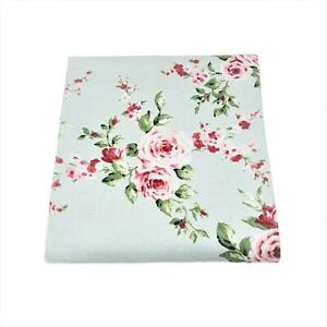 2-X-Shabby-Country-Garden-Floral-Rose-Blue-Pink-Chic-Cotton-Bath-Sheet-Towel