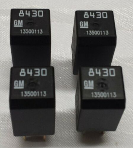 New GM OEM 4 Pin Electrical Relay 13500113 8430  SET OF 4