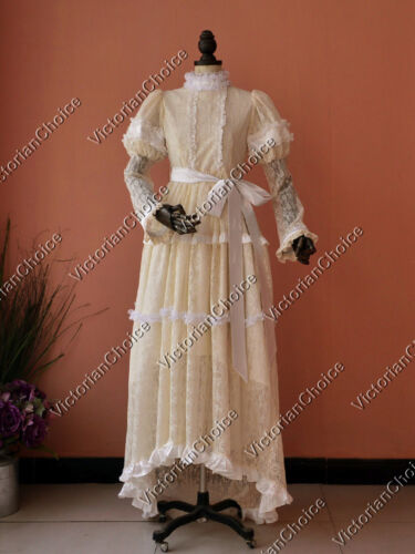 Edwardian Victorian Titanic Wedding Gown Dress Ghost Bride Halloween Costume 353 $162.75 AT vintagedancer.com