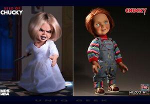 Child-039-s-Play-Good-Guy-Chucky-15-034-amp-Seed-of-Chucky-TIFFANY-Talking-Mega-Dolls-PO