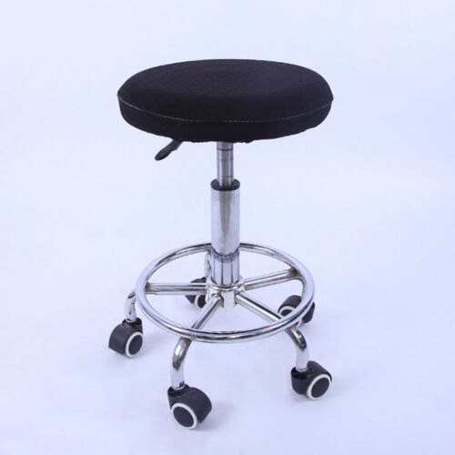 10x Black Stretch Elastic Bar Stool Cover Round Chair Seat Sleeve Slipcover