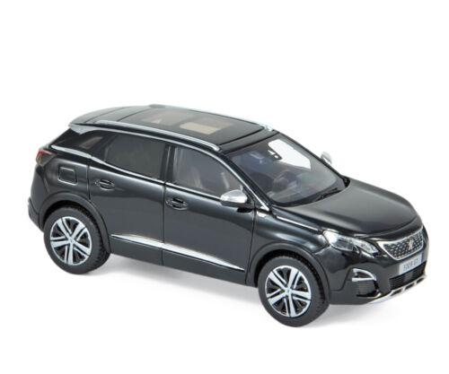 Peugeot 3008 GT 2016 schwarz 1:43 Norev 473879 neu /& OVP