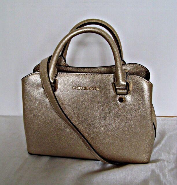 109313d61664 Michael Kors Pale Gold Savannah Small Satchel 30S6MS7S1M Color for ...