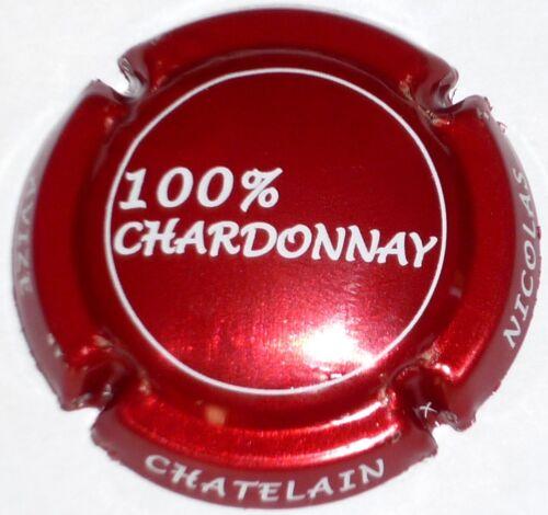 CHATELAIN Nicolas non réf ! Capsule de Champagne : New !! rouge métalisé