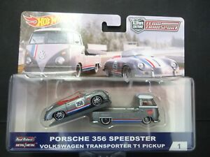 Hot Wheels VW T1 Transporter and Porsche 356 Speedster Magnus Walker FLF56 1/64