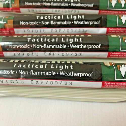 Lot 10 Red 12H Cyalume Chemlight Sticks Tactical Prepper Bug Out Survival 09//23