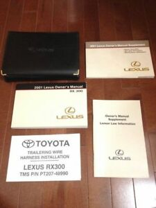 RX 300 RX300 01 2001 Lexus Owners Owner/'s Manual OEM